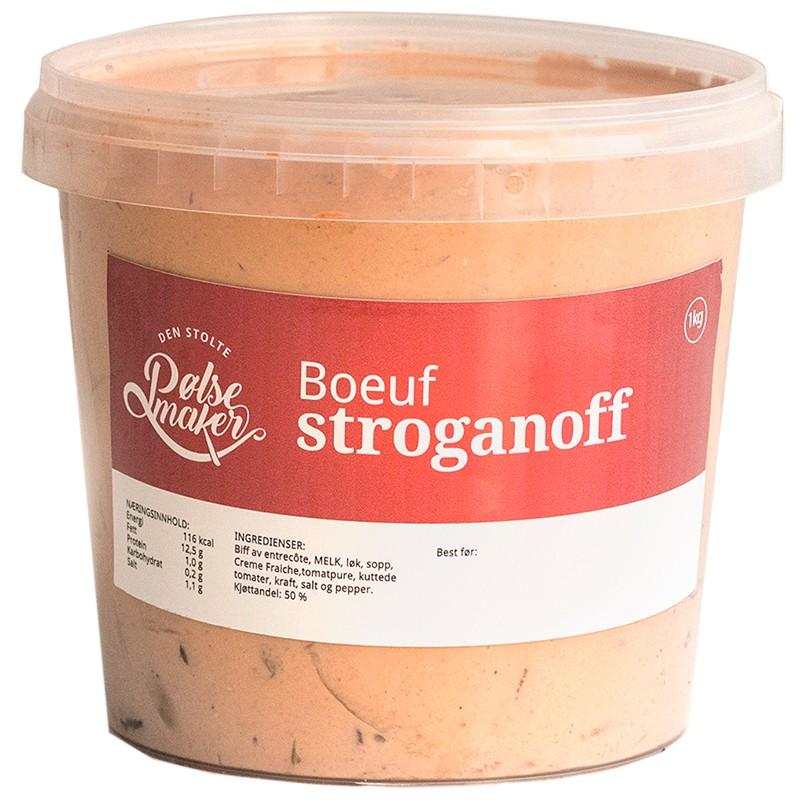 Boeuf Stroganoff-meny